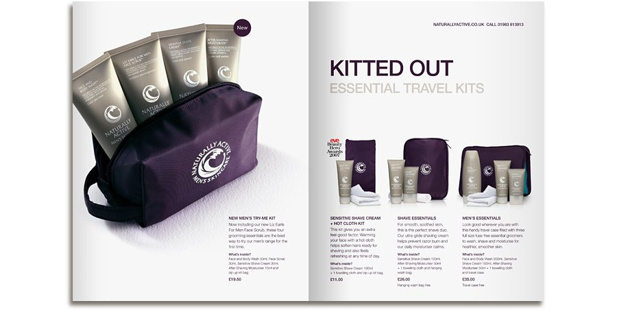 Liz Earle Mens kits brochure spread