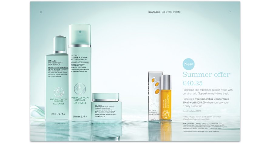 Liz Earle Daily Essentials Offers Retouching water fresh