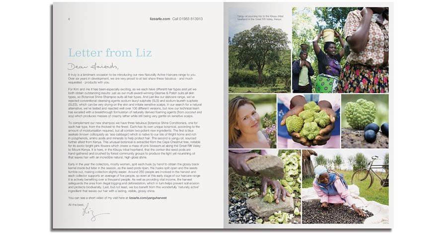 Liz Earle Naturally Active Skincare newsletter letter from Liz
