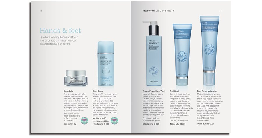 Liz Earle Naturally Active Skincare newsletter product spread