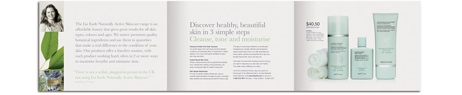 Liz Earle USA Launch Offer Mailer spread 2 healthy skin