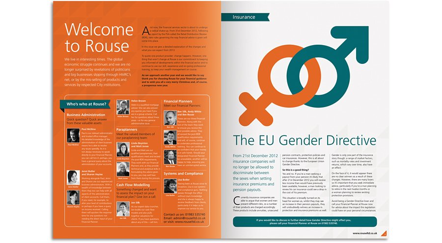 Rouse newsletter gender directive spread