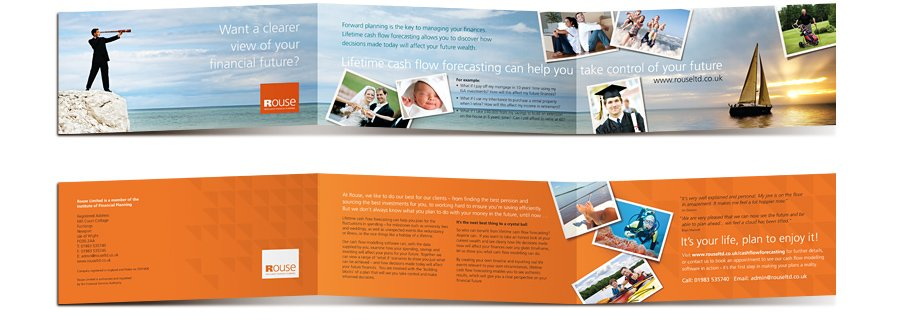 Rouse Cashflow Forecasting Mailer spreads see the future