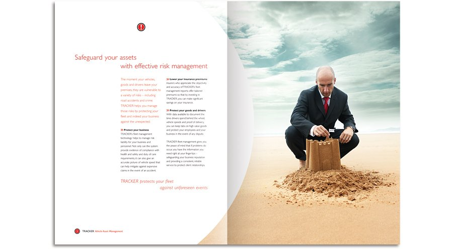 Tracker Vehicle Asset Management brochure safeguard sand castle