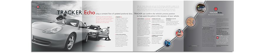 Tracker Stolen Vehicle Recovery Echo brochure open
