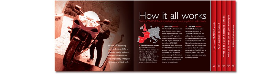 Tracker Stolen Vehicle Recovery Motorcycle brochure how it works