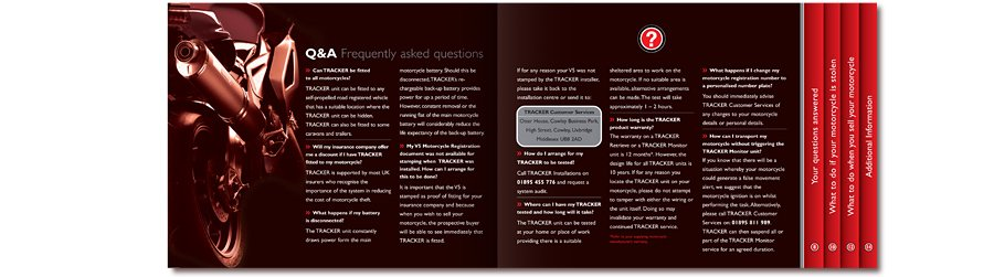 Tracker Stolen Vehicle Recovery Motorcycle brochure Q and A