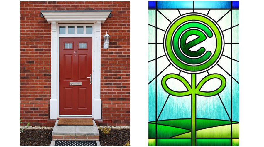 Ecoisland Green Deal retouch stained glass door