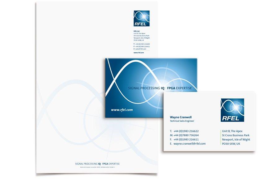 RFEL Corporate stationery design