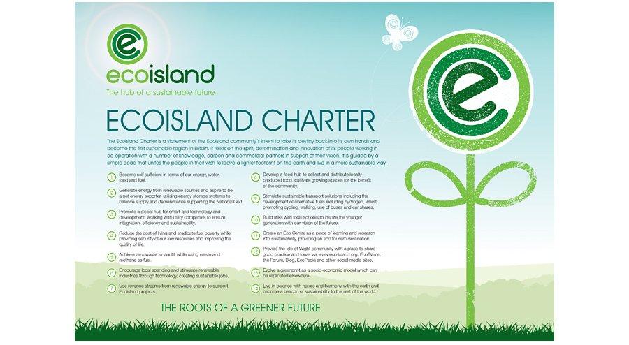 Ecoisland Charter poster