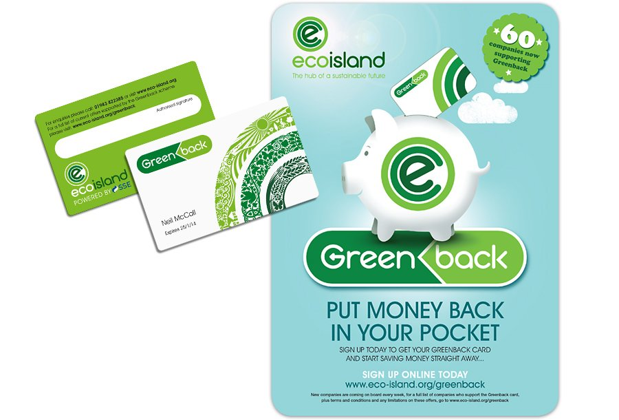 Ecoisland brand identity Greenback