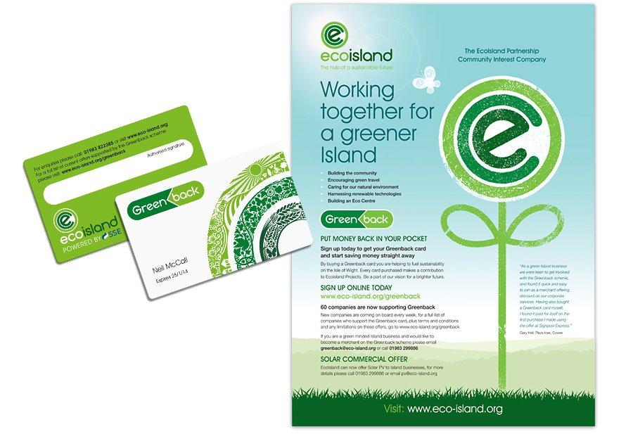 Ecoisland Press Adverts Greenback greener island pocket