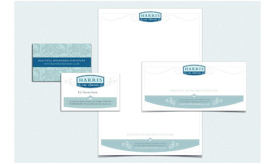 Harris Fine Furniture Stationery design
