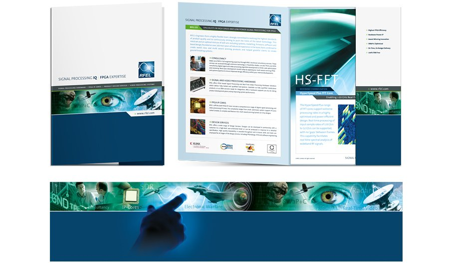 RFEL corporate folder and datasheets design