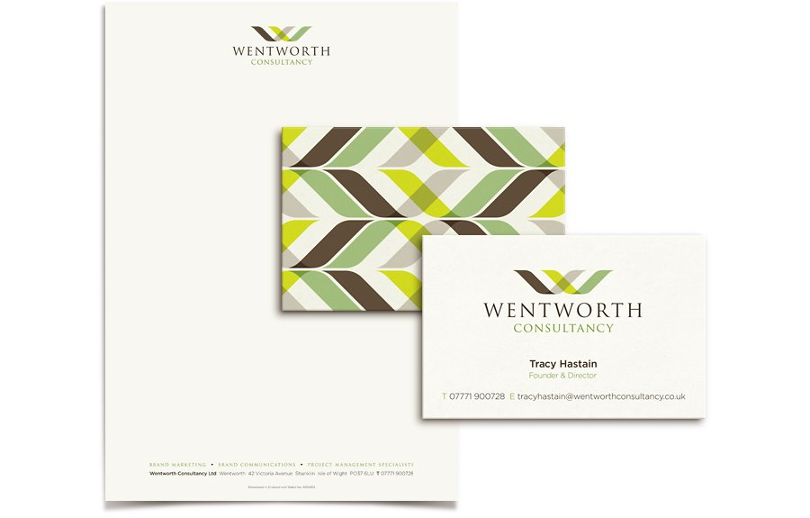 Letterhead business card and compliment slip stationery design