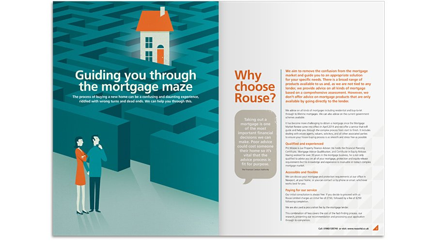 Guiding you through the mortgage maze brochure spread design 1