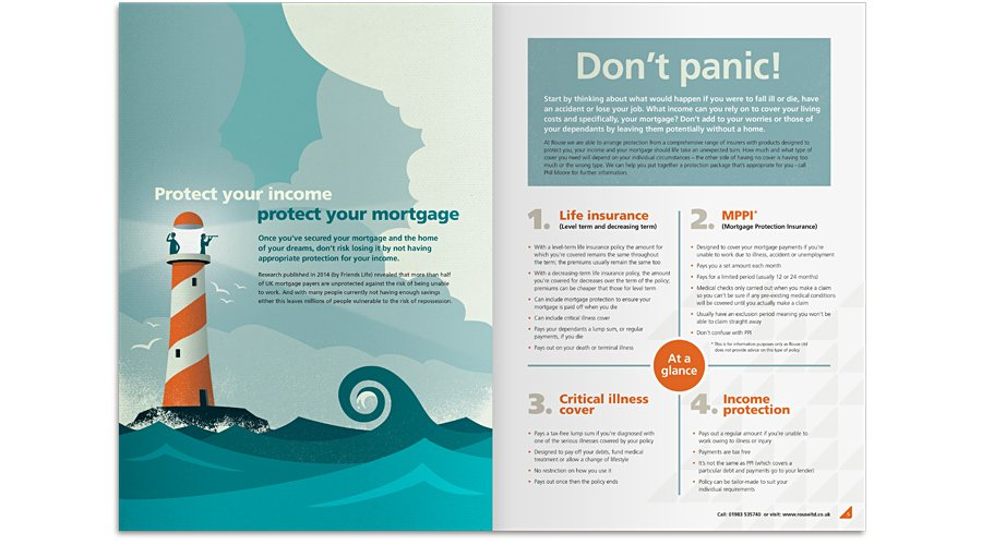 Protect your income - protect your mortgage brochure spread