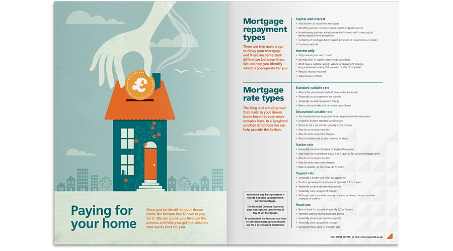Paying for your home - brochure spread design